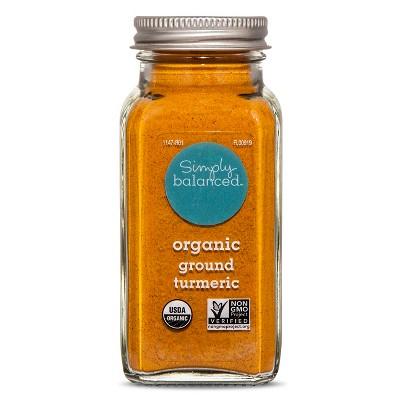 Organic Ground Turmeric - 3.3oz - Simply Balanced™