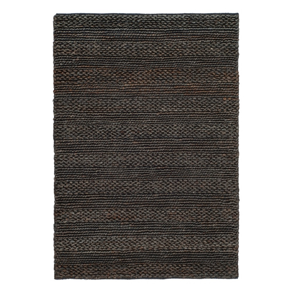3'X5' Stripe Woven Accent Rug Charcoal (Grey) - Safavieh