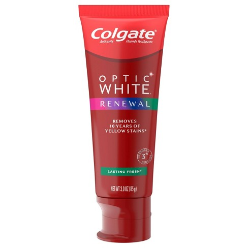 Colgate Optic White Renewal Teeth Whitening Toothpaste Lasting