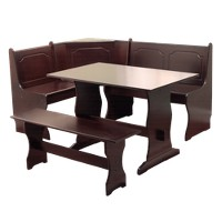 Deals on TMS 3 Piece Nook Dining Set Wood