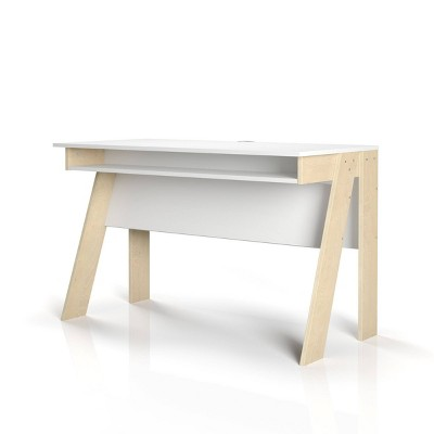Tangent Computer Plywood Desk - Nexera