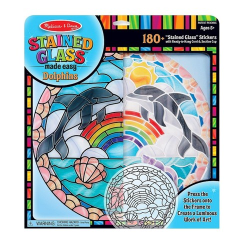 Melissa & Doug Stained Glass Made Easy Craft Kit: Dolphins - 180+ Stickers - image 1 of 4