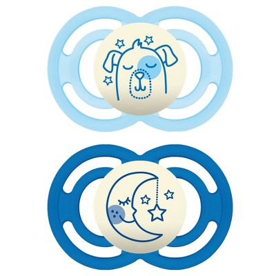 MAM Perfect Night Pacifier 2ct - Dark Blue/Light Blue - 6+ Months