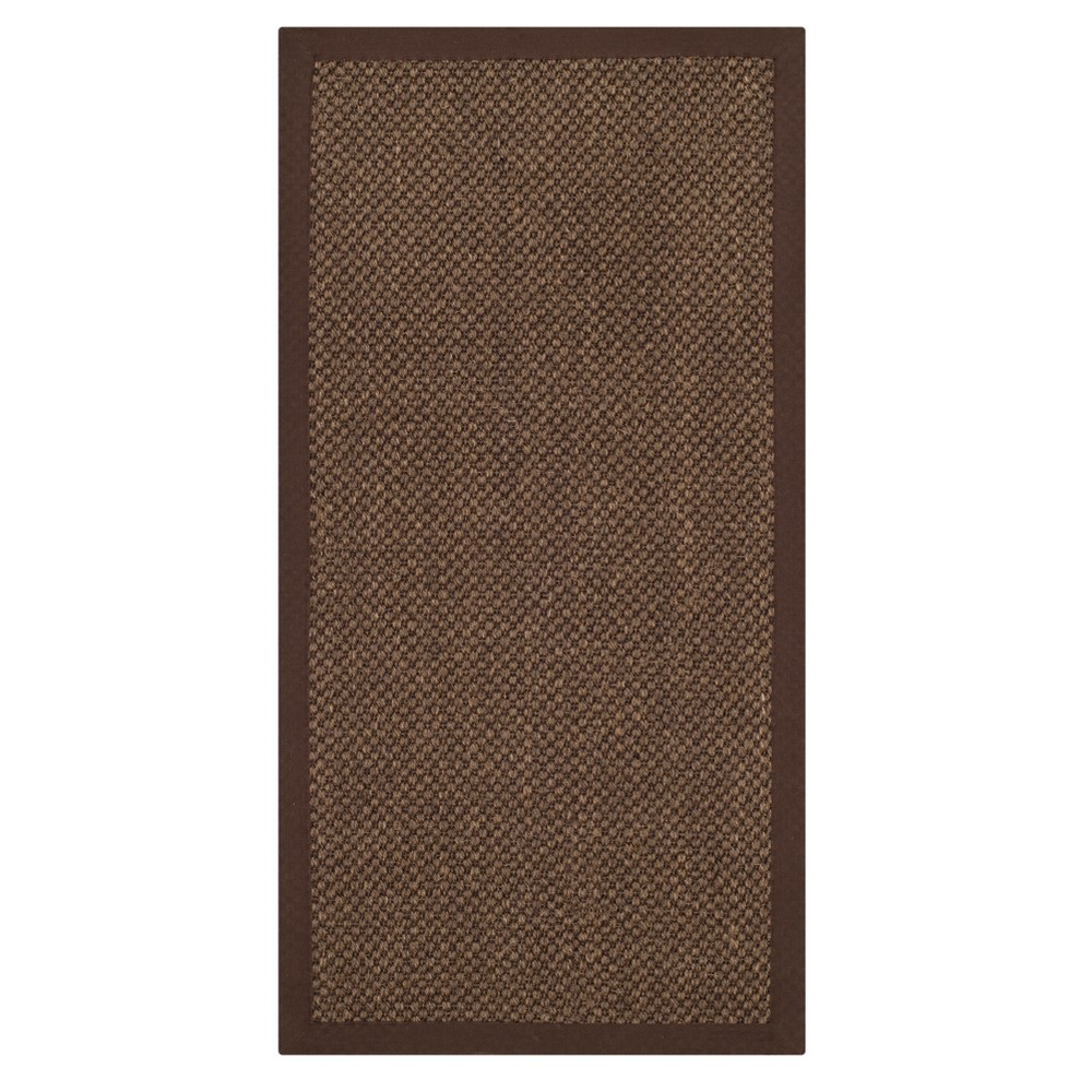 2'X4' Solid Loomed Accent Rug Brown - Safavieh