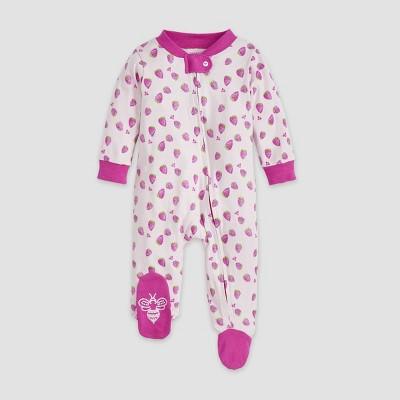 Burt's Bees Baby® Baby Girls' Organic Cotton Strawberry Fields Sleep N' Play - Red 3-6M