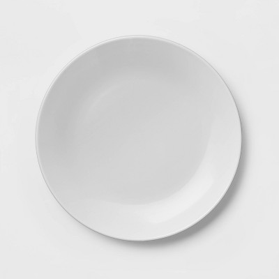 "10"" Stoneware Coupe Dinner Plate White - Project 62™"
