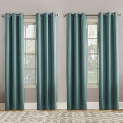 4pk Tari Room Darkening Grommet Curtain Bundle Marine 160 x63  - Sun Zero