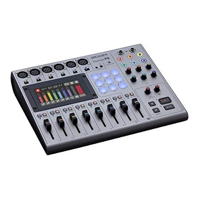 Zoom Pod Trak P8 Podcast Recorder, 6 Microphone Inputs, 6 Headphone Outputs, Phone Input Sound Pads, Onboard Editing USB Audio Interface, Battery Powered