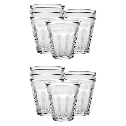 Duralex Picardie 3.12 Ounce Clear Tempered Glass Stacking Drinkware Tumbler Drinking Glasses, Set of 12 - image 1 of 4