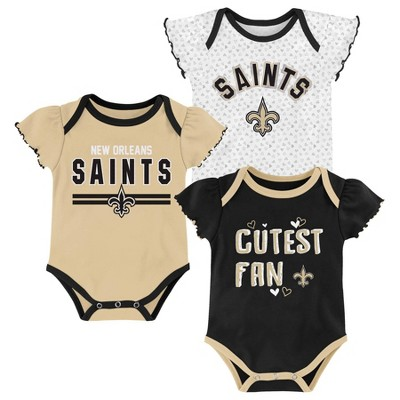 NFL New Orleans Saints Baby Girls' Bodysuit Set 3pk - 18M