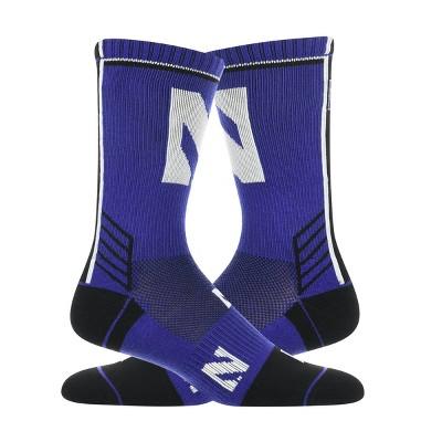 NCAA Northwestern Wildcats Tailgate Crew Sock L/XL