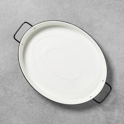Serve Tray Enamelware Oval White - Hearth & Hand™ with Magnolia