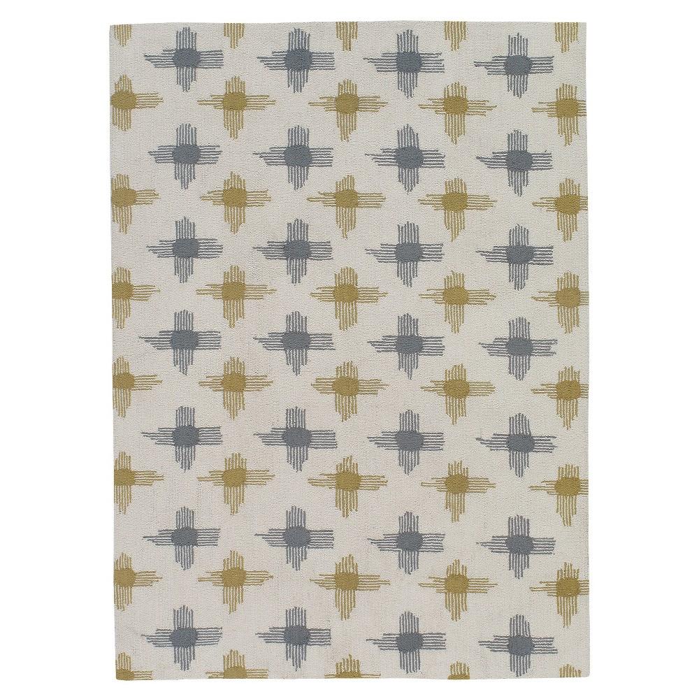 5'X7' Shapes Area Rug Gray/Gold - Momeni, Gold Gray