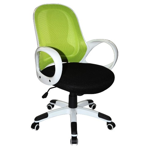 sale retailer a58e5 f9664 Nelson Office Chair Lime Green White Black - Boraam