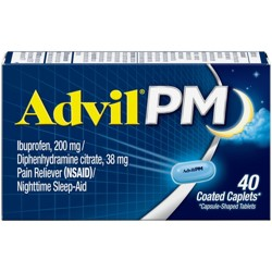 Advil PM Pain Reliever/Nighttime Sleep Aid Caplets - Ibuprofen (NSAID) - 40ct