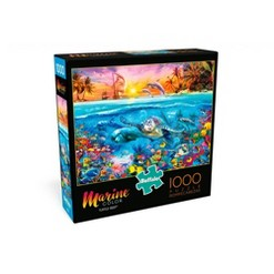 Buffalo Games Marine Color: Turtle Reef Puzzle 1000pc, Adult Unisex