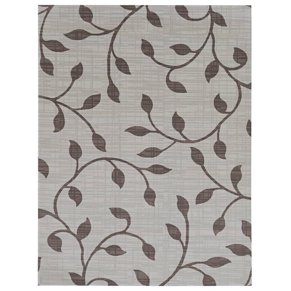 Image of 6'x8' Botanica Outdoor Rug Dark Gray/Light Gray - Foss Floors