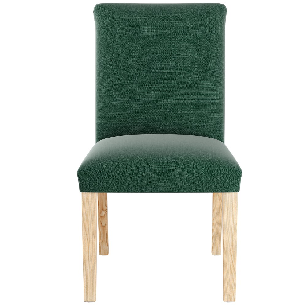 Parsons Dining Chair Linen Conifer Green with Natural Legs - Threshold