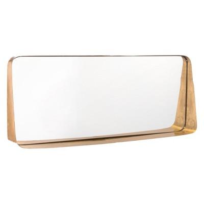 ZM Home 30  Luxe Rectangular Mirror Gold