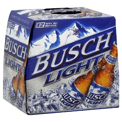Busch Light Beer - 12p/12 fl oz Bottles
