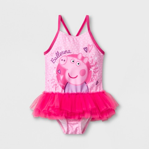 Toddler Girls Peppa Pig One Piece Swimsuit Pink Target