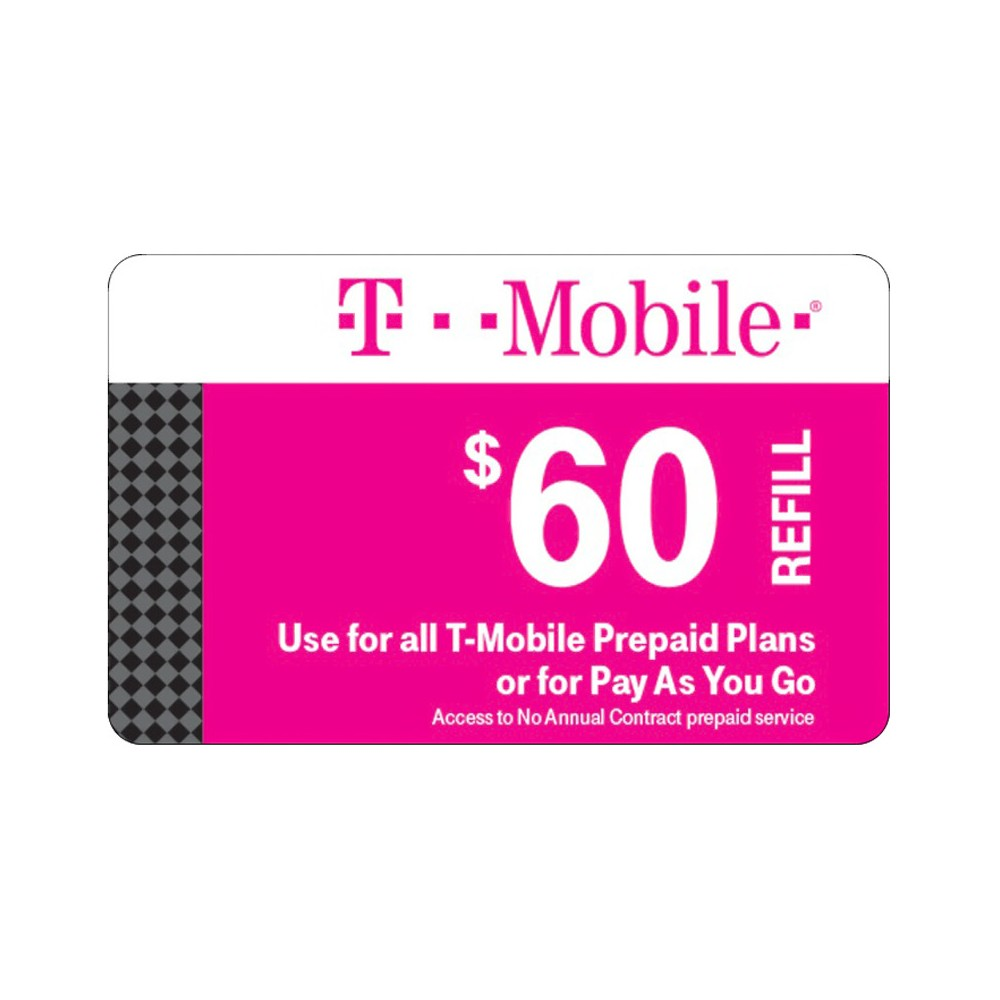 T-Mobile $60 Prepaid Refill Card (Email Delivery)