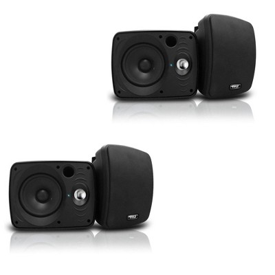 Pyle 6.5 Inch Waterproof Bluetooth Indoor and Outdoor Speaker, Black (2 Pair)