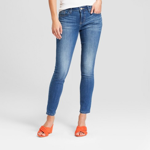 Women's Mid-Rise Skinny Ankle Jeans - Crafted by Lee Medium Wash - image 1 of 3