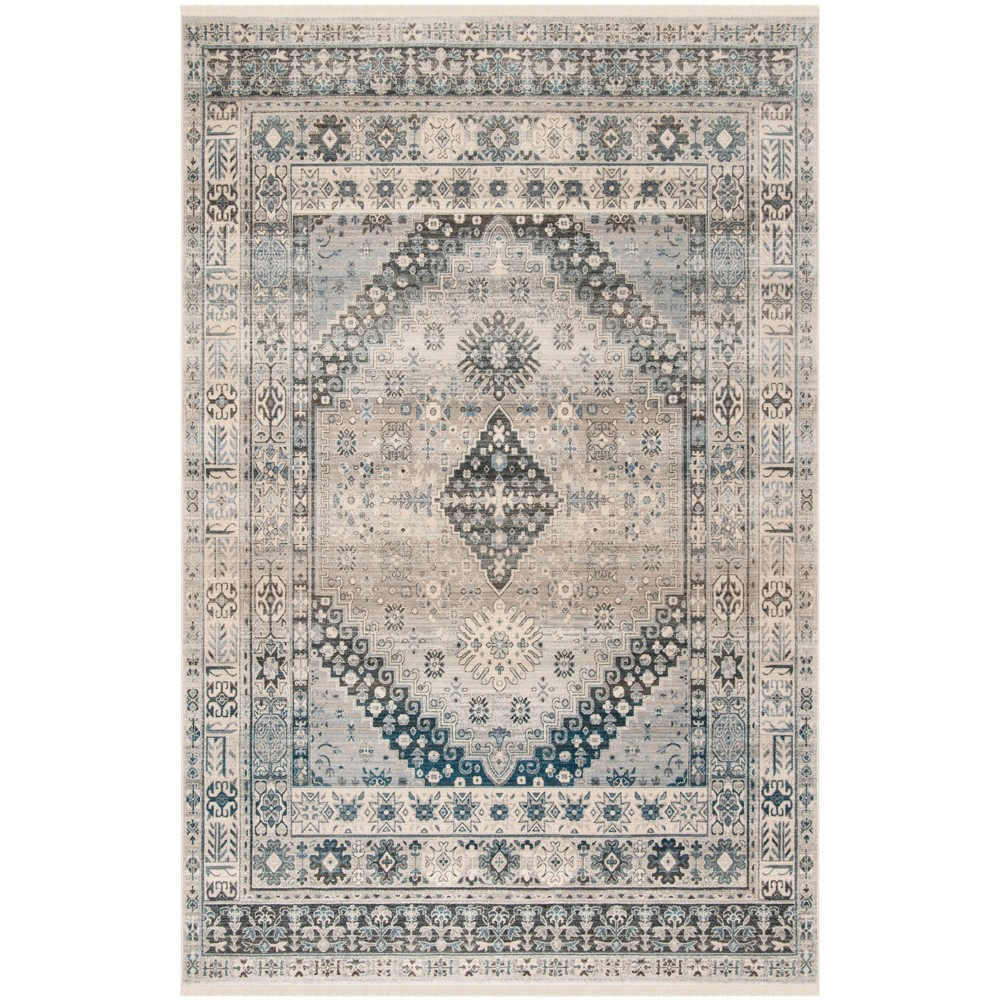 9'X11'7 Loomed Medallion Area Rug Gray - Safavieh