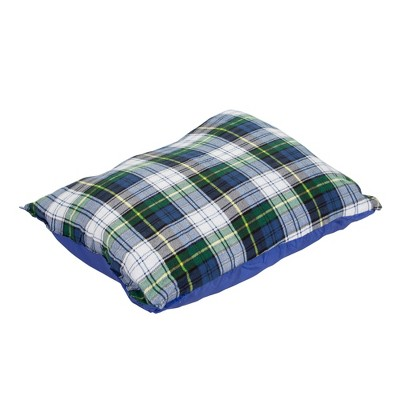 Stansport Soft Plaid Flannel Outdoor Camping Portable Pillow