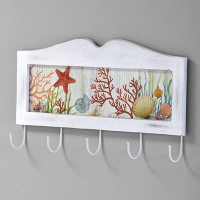 Lakeside Coastal Bathroom Wall Hooks for Towels with Rustic Nautical Design