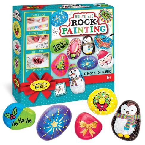 Creativity for Kids Holiday Hide & Seek Rock Painting Kit - image 1 of 4