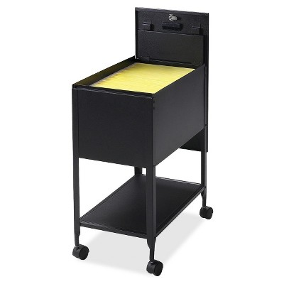 Lorell Vertical Filing Cabinet Mobile Cart Steel - Black
