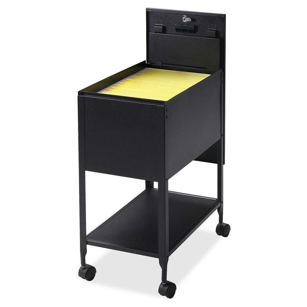 Image of Lorell Vertical Filing Cabinet Mobile Cart Steel - Black