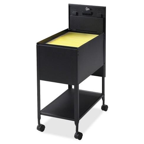 Lorell Vertical Filing Cabinet Mobile Cart Steel Black Target