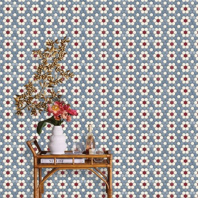 Hexagon Tile Mosaic Peel & Stick Wallpaper Blue - Opalhouse™