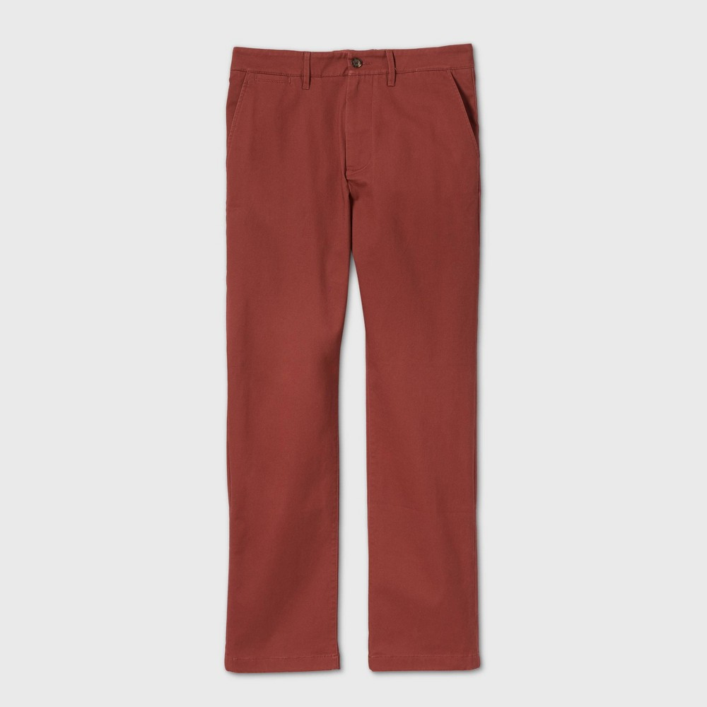 Men 39 S Straight Fit Chino Pants Goodfellow 38 Co 8482 Red 29x32