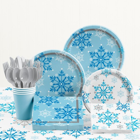 Snowflake Swirls Party Supplies Kit - image 1 of 4
