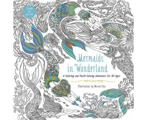 Mermaids in Wonderland 20 Postcards : An Interactive Coloring Adventure for All Ages (Stationery) - image 1 of 1