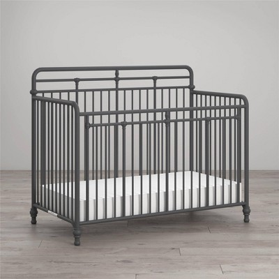 Little Seeds Monarch Hill Hawken Metal 3-in-1 Convertible Crib - Gray