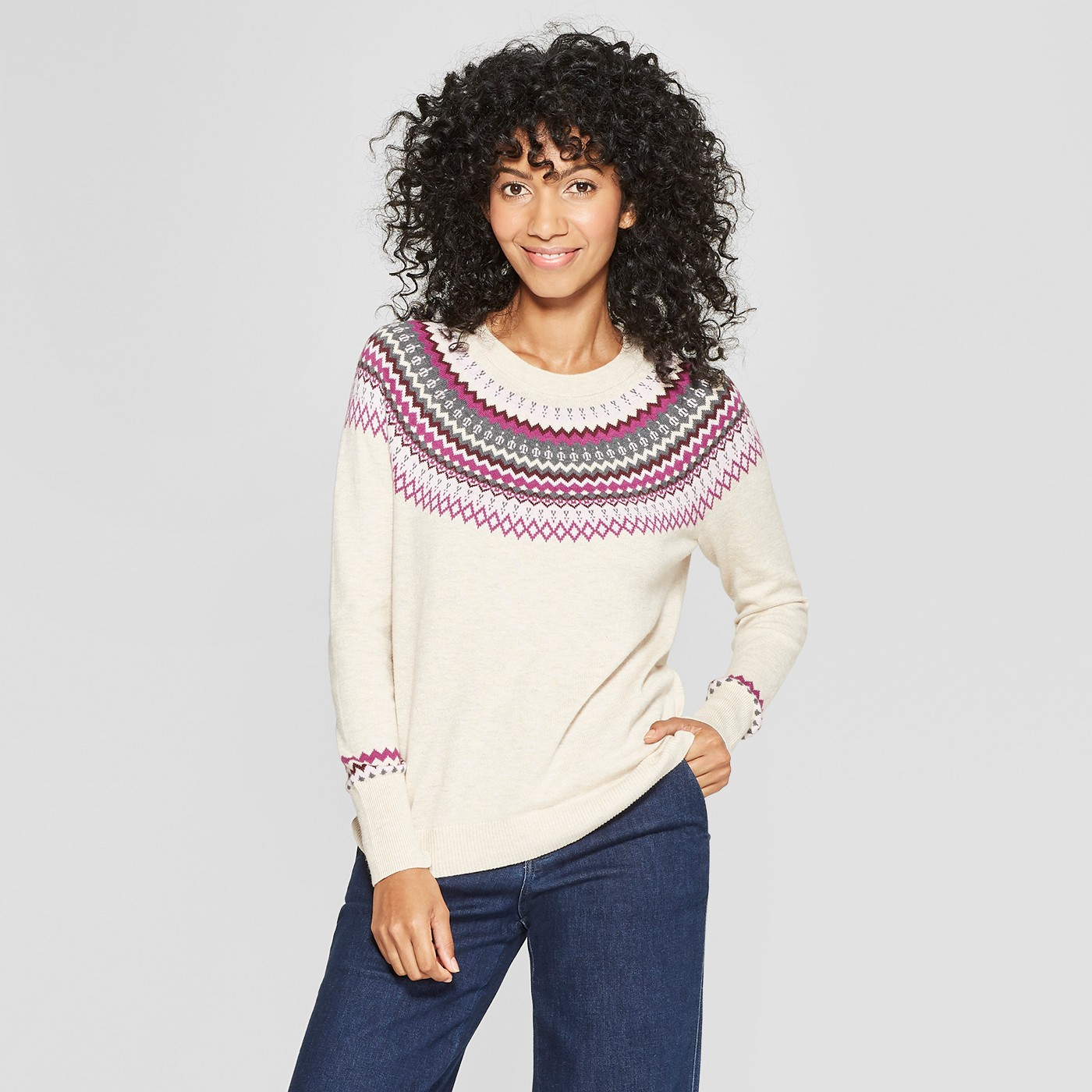 "Women's Fair Isle Pullover Sweater - A New Dayâ""¢ - image 1 of 3"