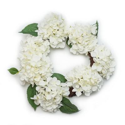 Artificial Floral Wreath White 20 x20  - Lloyd & Hannah