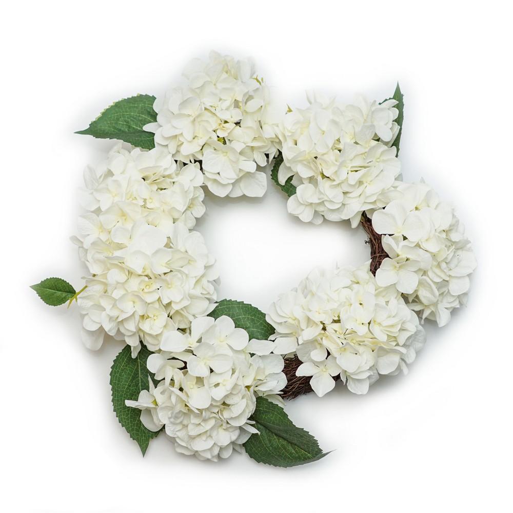 Artificial Floral Wreath White 20
