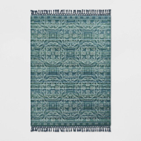 Indoor/Outdoor Floral Woven Rug - Opalhouse™ - image 1 of 3