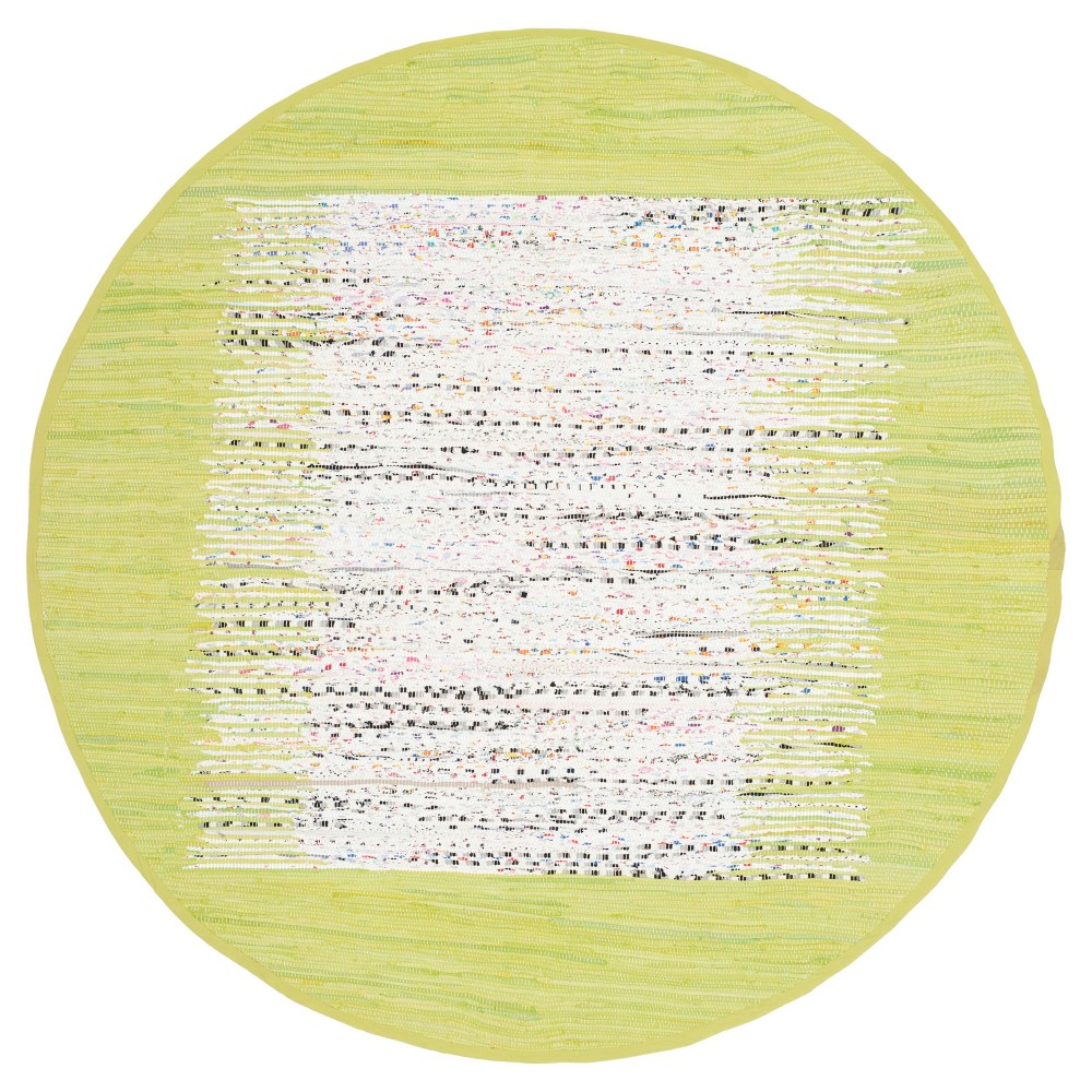 Bettina Flatweave Area Rug - Ivory / Citron (6' Round) - Safavieh