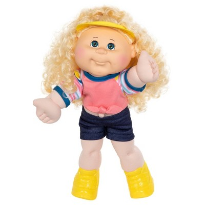 "Cabbage Patch Kids 14"" Blonde Hair Hazel Eyes Sporty Girl Doll"