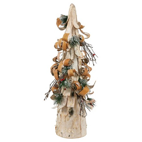 "24"" Unlit Artificial Christmas Tree Bark Cone Brown - image 1 of 1"