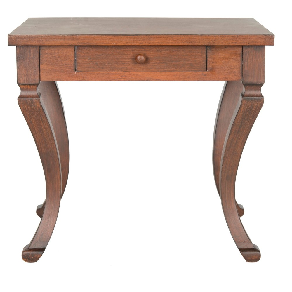 Colman Side Table With Storage Brown - Safavieh