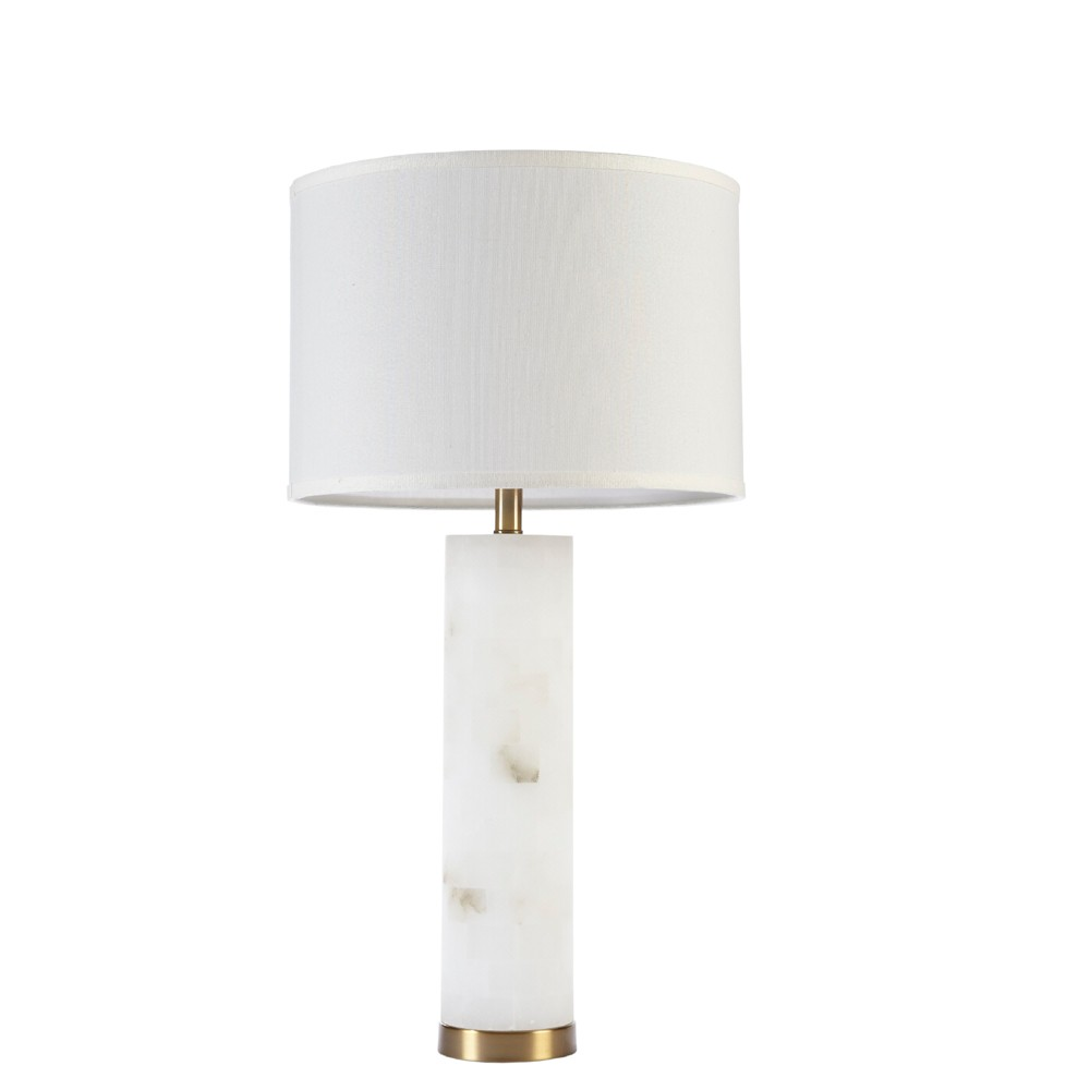 "Image of ""16"""" x 30"""" Prague Table Lamp (Includes Energy Efficient Light Bulb) White"""