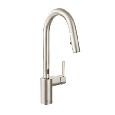 Moen 7565e Align Metal Touchless Pullout Spray High Arc Kitchen Faucet With Spout Swivel Spot Resist Stainless Target